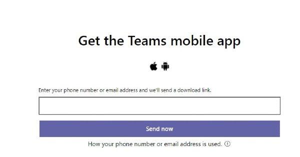 Windows Get Teams Mobile app