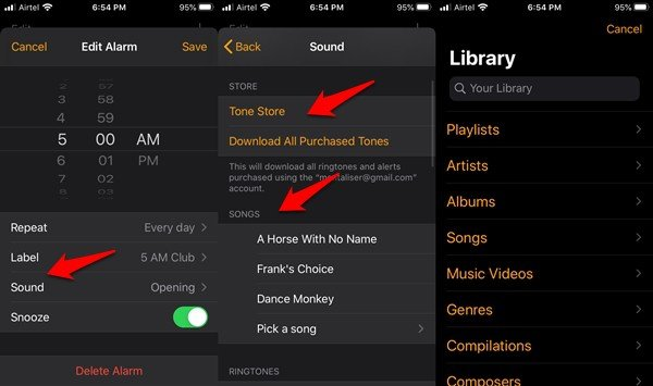 set apple music song as alarm