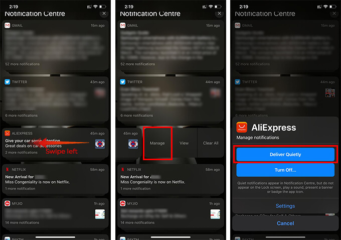 Deliver Quietly App Notifications from Notification Centre