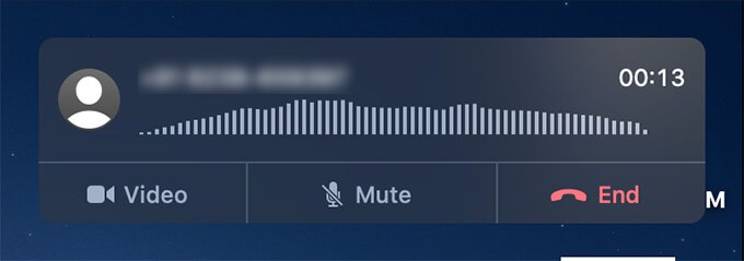 FaceTime Audio Call on Mac