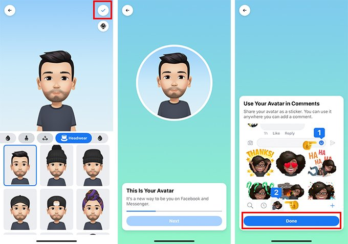 Finish making Facebook Avatar that looks like you
