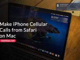 How to Make iPhone Cellular Calls from Safari on Mac