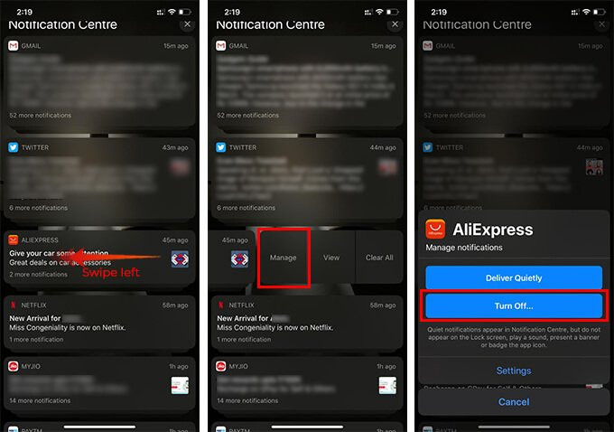 How to Turn Off Notifications for Apps from Notification Centre