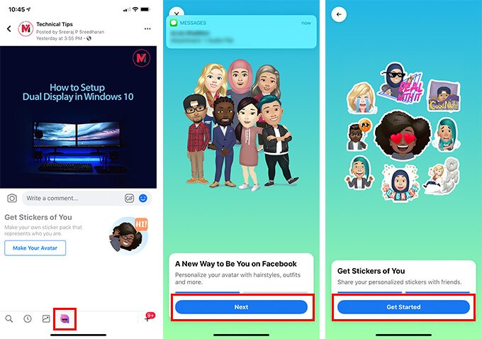 Start Creating Facebook Avatars Stickers