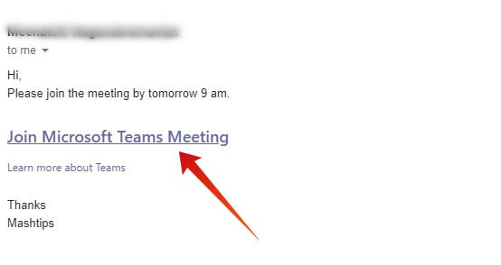 Windows Teams Meeting Invite Email
