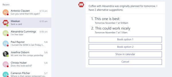 microsoft teams bot in action