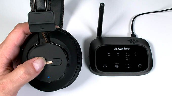 Avantree HT5009 Wireless Headphones and Transmitter