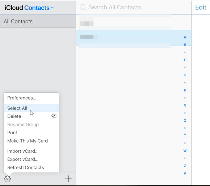 Export iCloud Contact