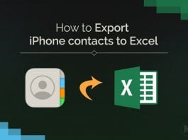 Export iPhone contacts to Excel