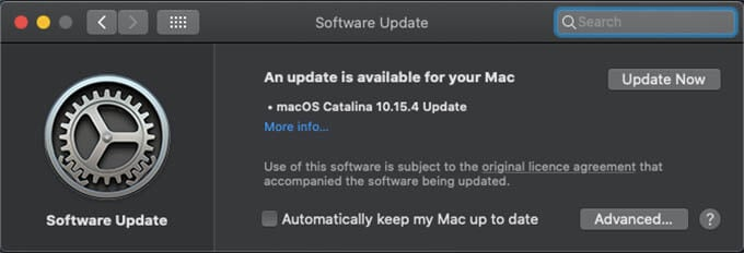 Update MacBook to the latest version of macOS