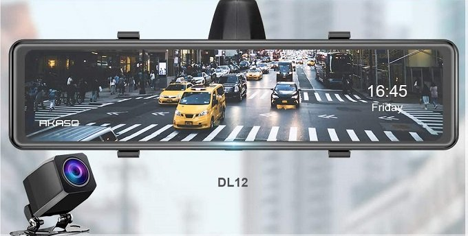 Akaso DL12 front and rear dashcam Rear view