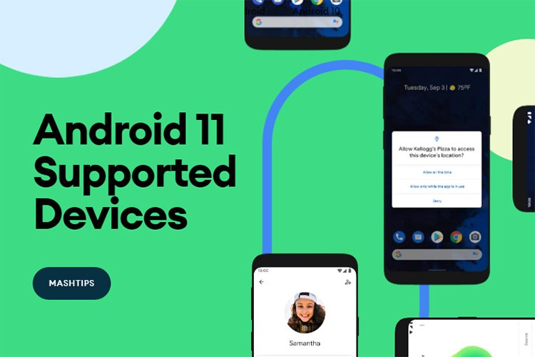 Android 11 and Android 11 Beta Supported Devices