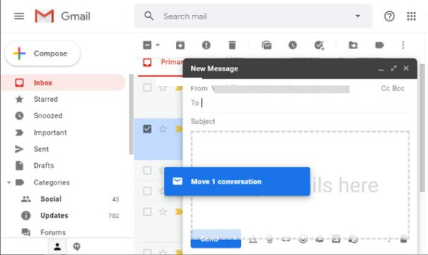 Attach Mail in An Email on Gmail