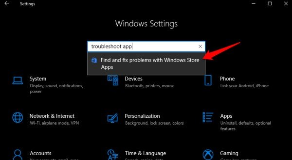 windows troubleshooting apps