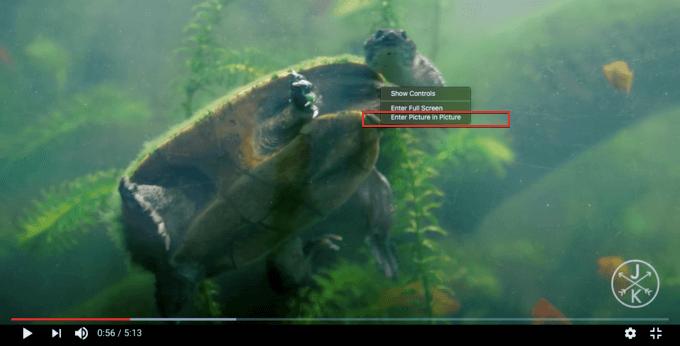 Picture in Picture mode Using Safari on Mac