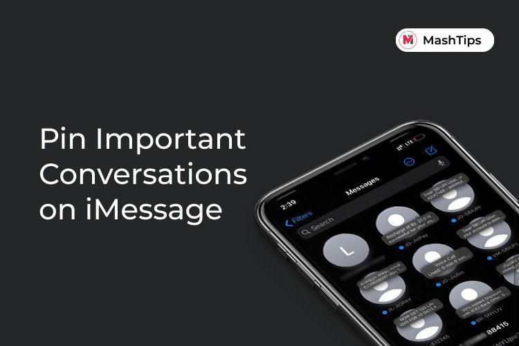 Pin Important Conversations on iMessage