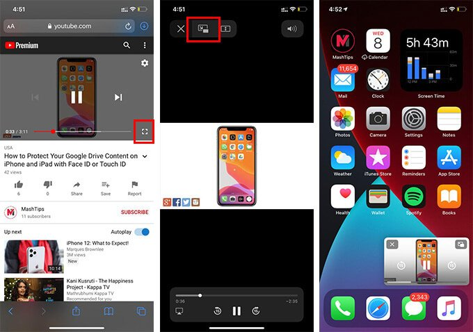 Play Video in Picture in Picture on iPhone