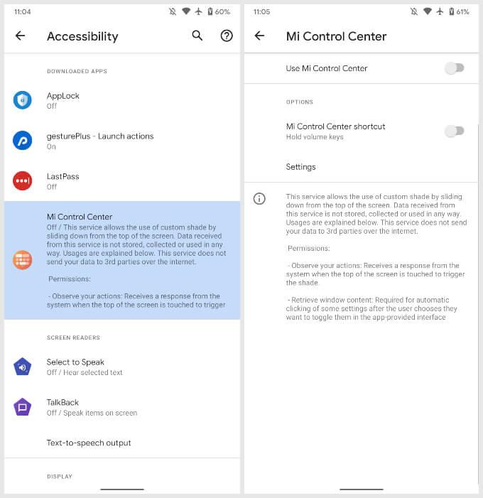 grant accessibility permission