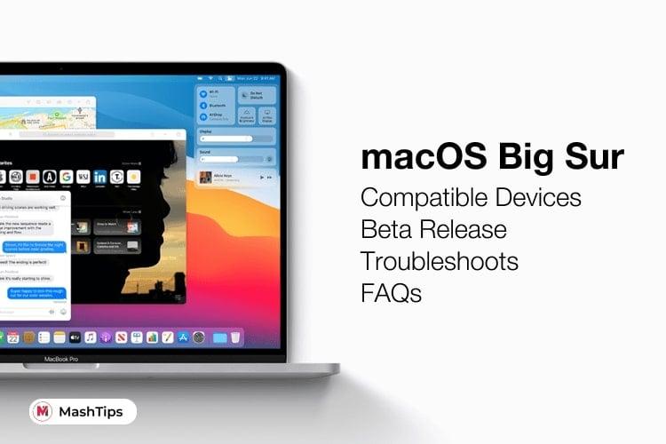 macOS Big Sur Compatible Devices