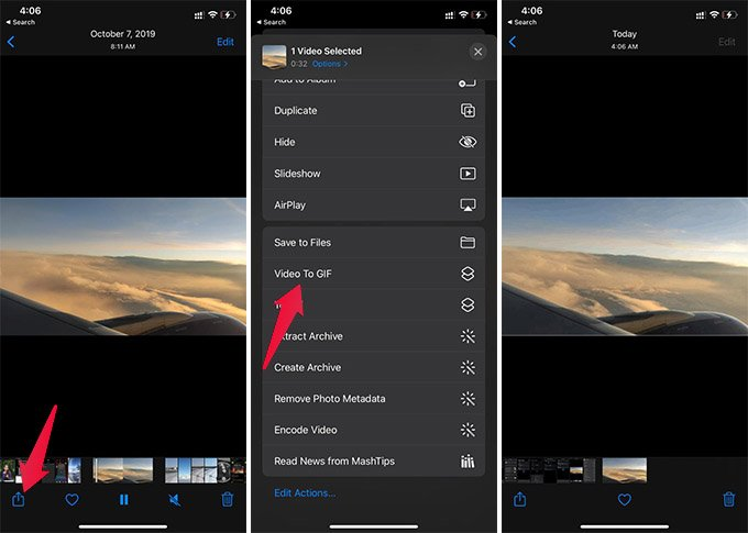 Convert Video to GIF on iPhone Using iOS Shortcut