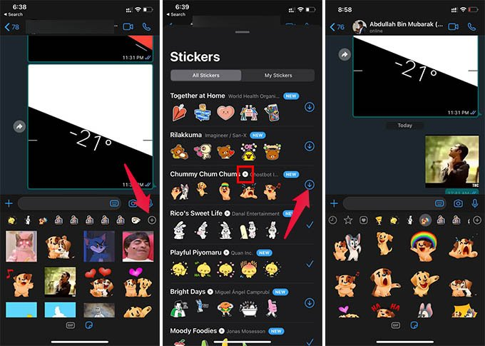 Get Animated WhatsApp Stickers on iPhone