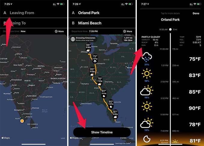 Get Weather Along the Route on iPhone