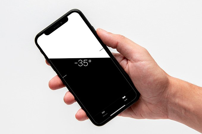 Level Measure on iPhone