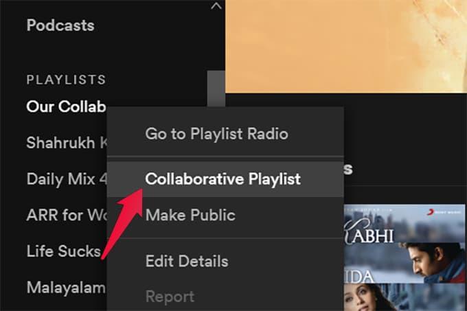 Make Collaborative Playlist on Spotify Windows and Mac