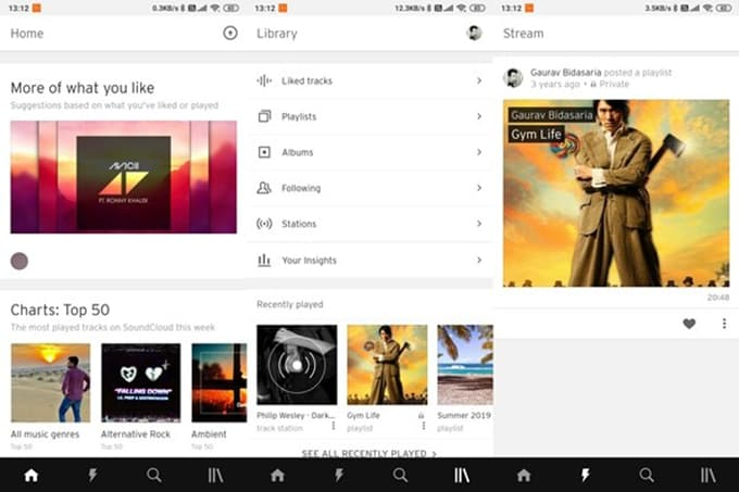 SoundCloud App User Interface