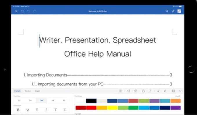 WPS Office for iPad