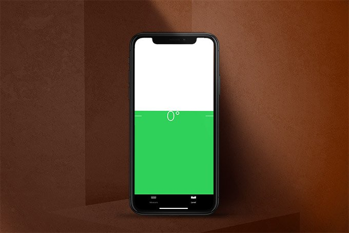 iPhone Level on Measure Apps