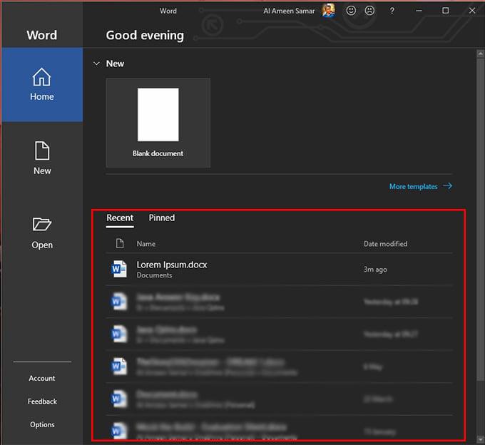 open word document