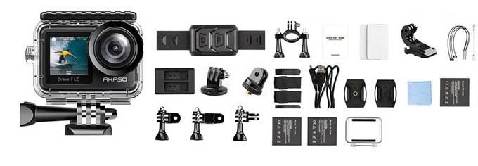 AKASO Bravo 7 LE Action Camera Accessories