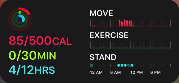 Activity App iPhone Widgets