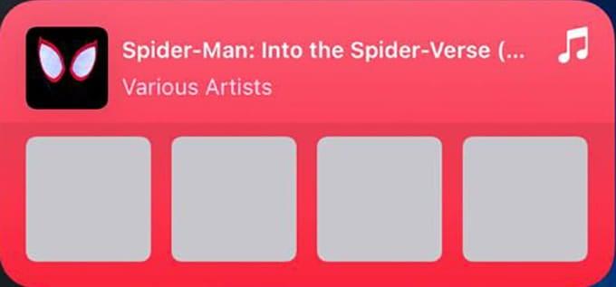Apple Music iPhone Widget
