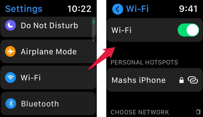 Apple Watch WiFi Connection