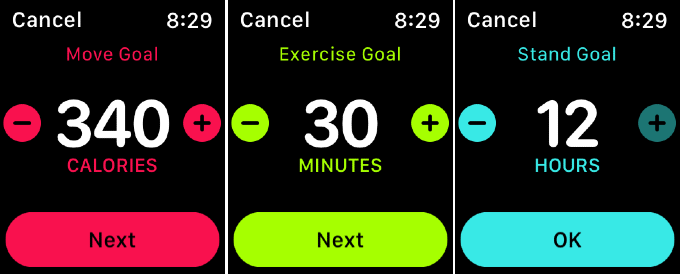 Change Fitness Goals Apple Watch