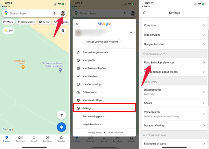 Choose Dietary Preferences in Google Maps on iPhone and Android