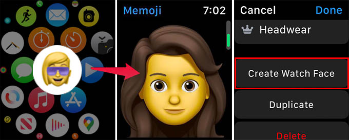 Create Memoji Watch Face from Apple Watch
