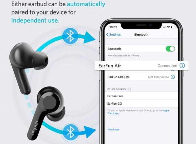 EarFun Air Headphones Switch