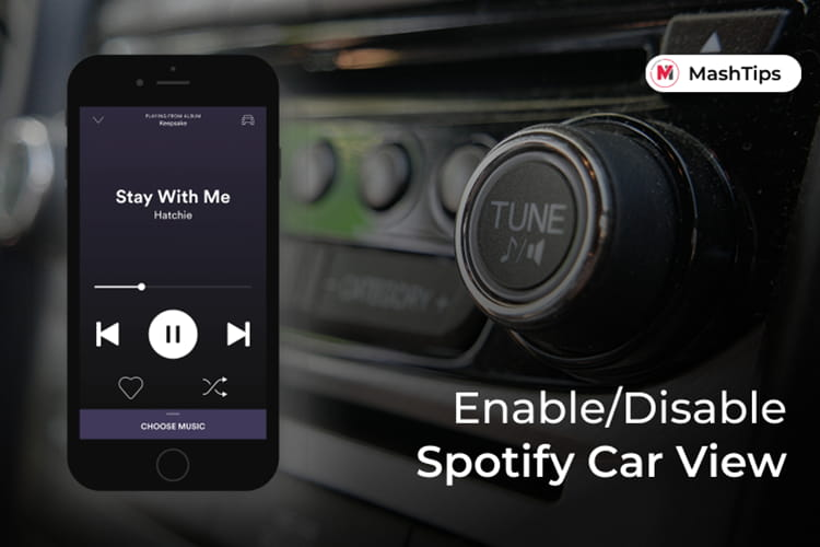 Get Car View on Spotify and Disable