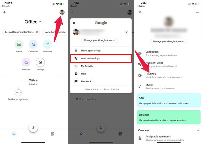 Google Home Routines Settings iPhone