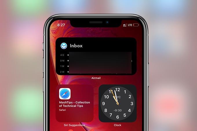 Home Screen Widgets iPhone iOS 14