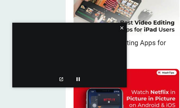 Netflix Picture in Picture Mode on Chrome