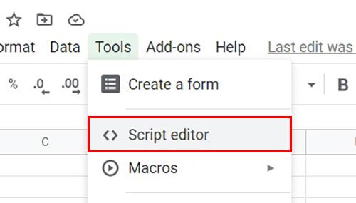 Script Editor Google Sheets