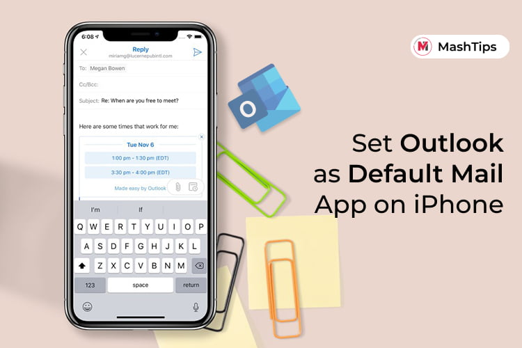 Set Microsoft Outlook as Default Mail App on iPhone