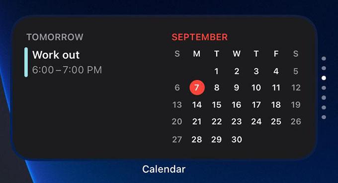 Smart Stack Widget on iPhone Home Screen
