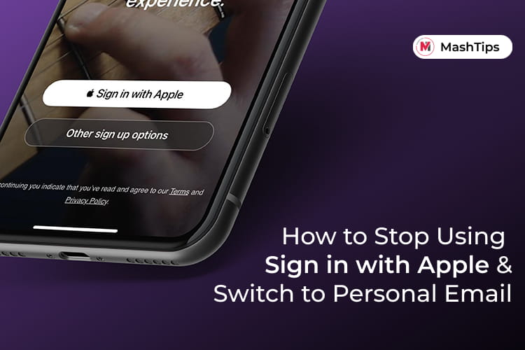 Stop Using Sign in with Apple Switch to Personal Email