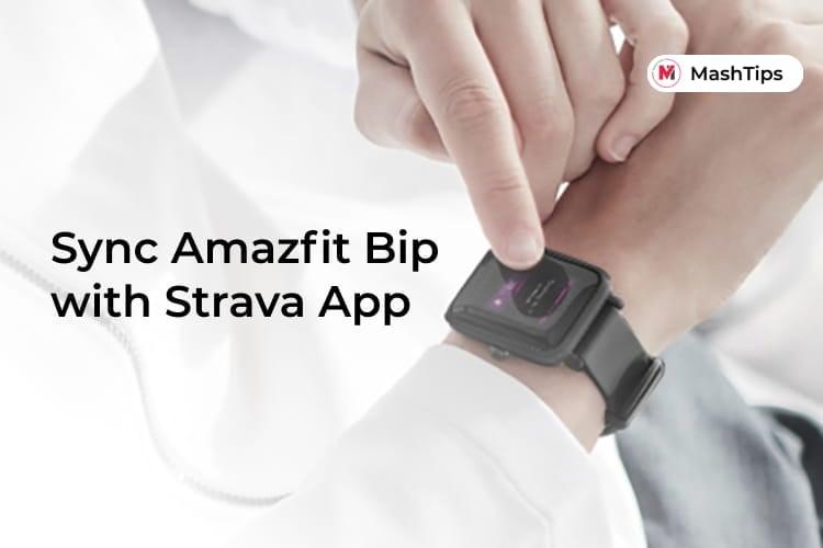 Sync Amazfit Bip to Strava