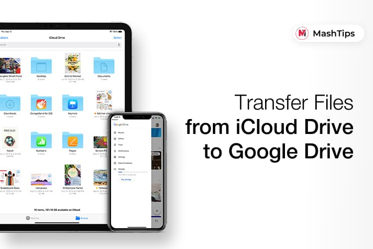 Transfer Files from iCloud Drive to Google Drive on iPhone
